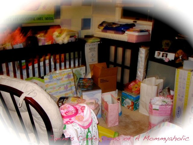 The Nursery Filled with Gifts Unsorted!!