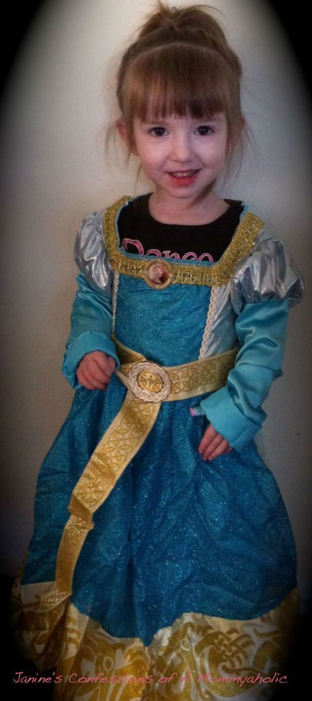 Lily's Turn in the Princess Merida Costume