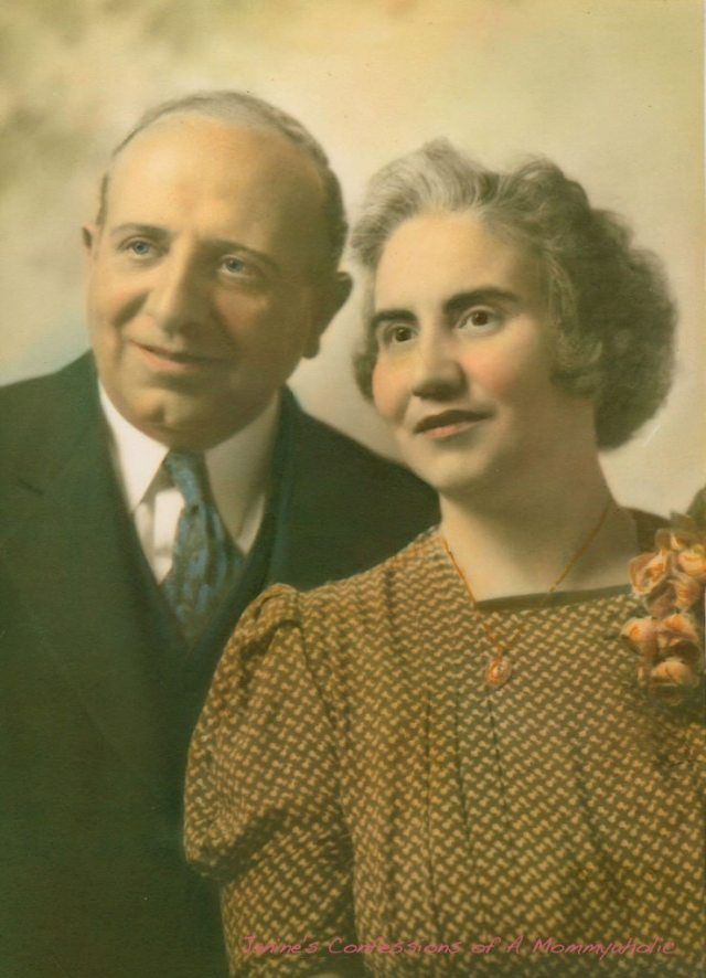 My great-grandfather & great-grandmother years before I was even born.  I don't really remember him this way, but always loved this picture of them.