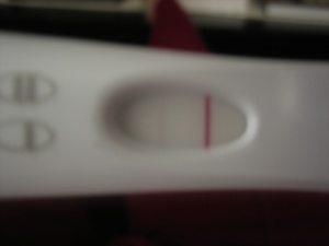 This was the actual test and I had taken pictures of it right after I got a positive!!