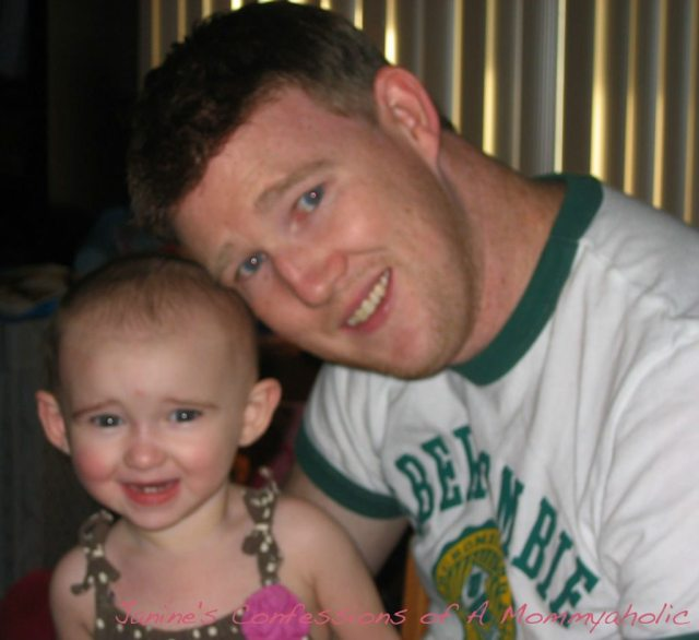 Kevin and Emma Right Before Swim--Summer 2010