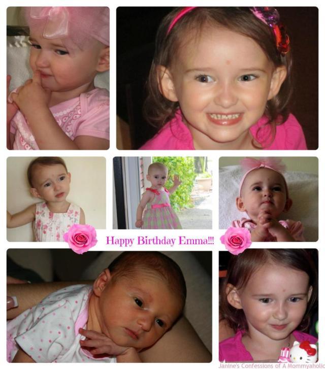 Emma Birthdays Collage