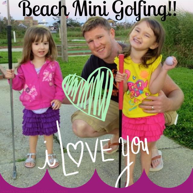 Friday Night Beach Mini Golfing