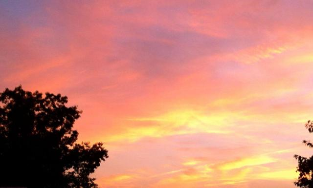 Fall Sunset--Love the Colors!