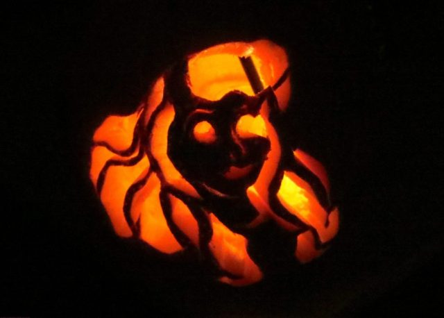 Aurora(Sleeping Beauty)Carved Pumpkin for Emma