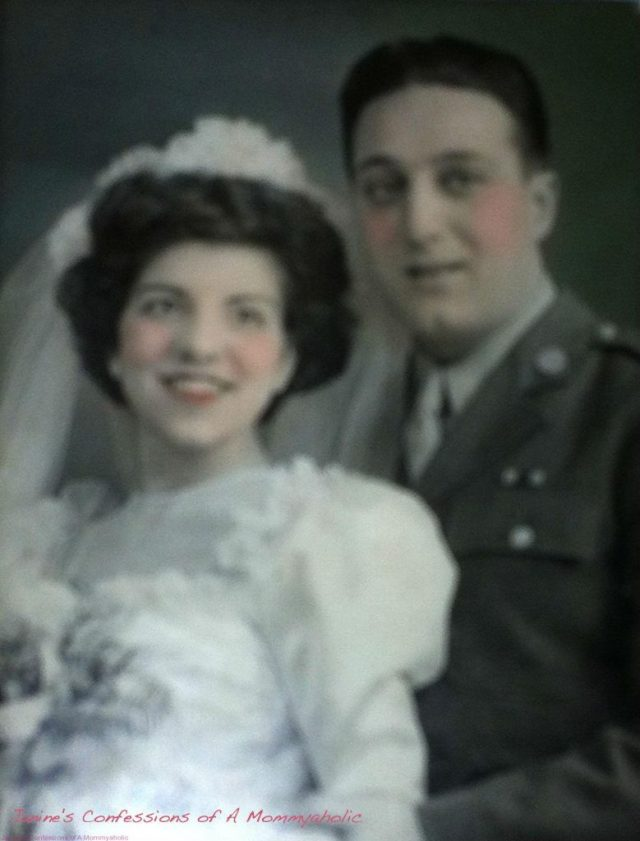 My Grandmother On Her Wedding Day~Thankfully She Overcame Her Stuttering By This Point