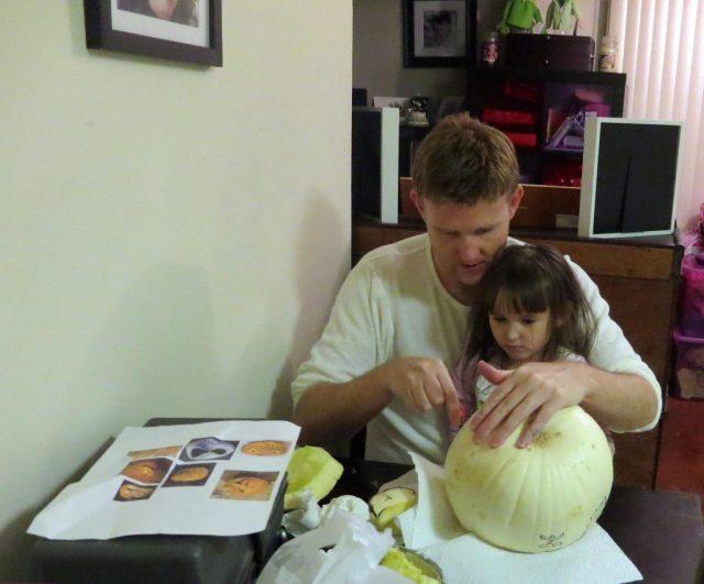White Pumpkin Carving