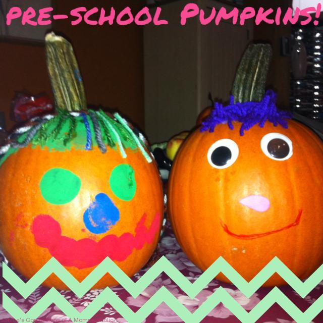 Painted Pre-School Pumpkins
