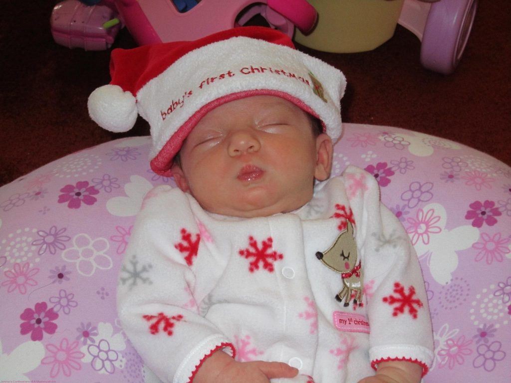 Lily-My sleeping Christmas Baby!