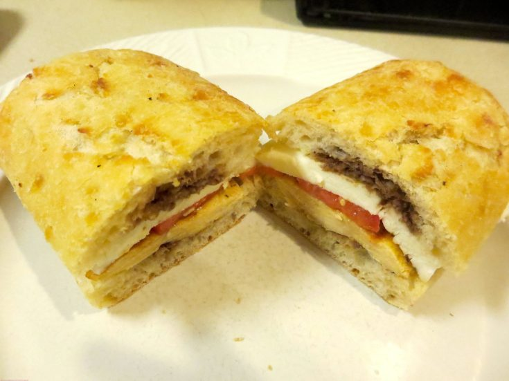 Grilled Chicken Tomato Mozzarella Panini
