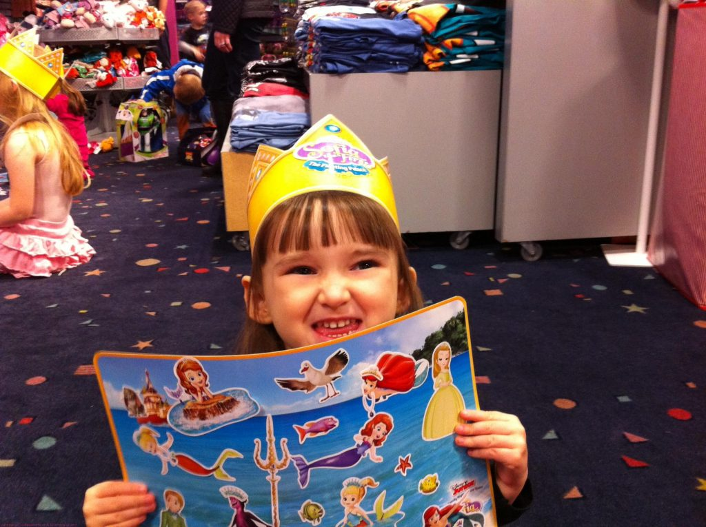 Emma All Decked Out Showing Her Placemat