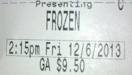 Frozen Finally!