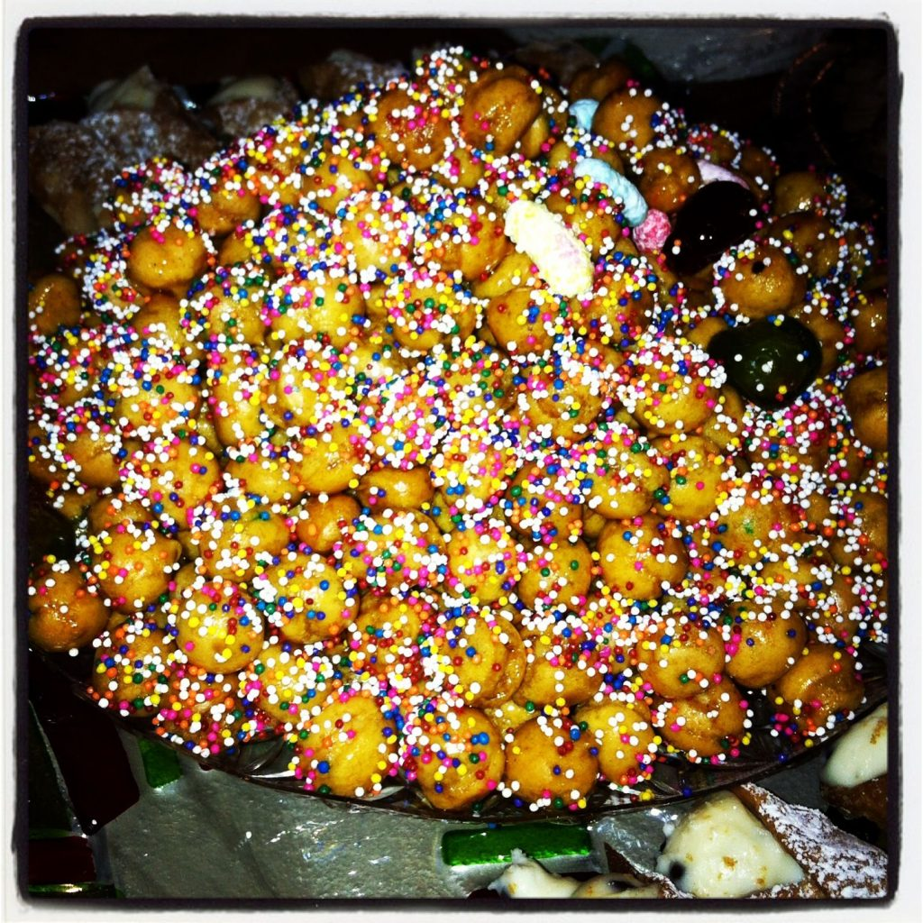 Christmas Dessert with Struffoli and Cannoli!