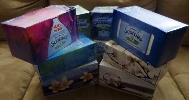 Thanking God for Scotties Tissues!