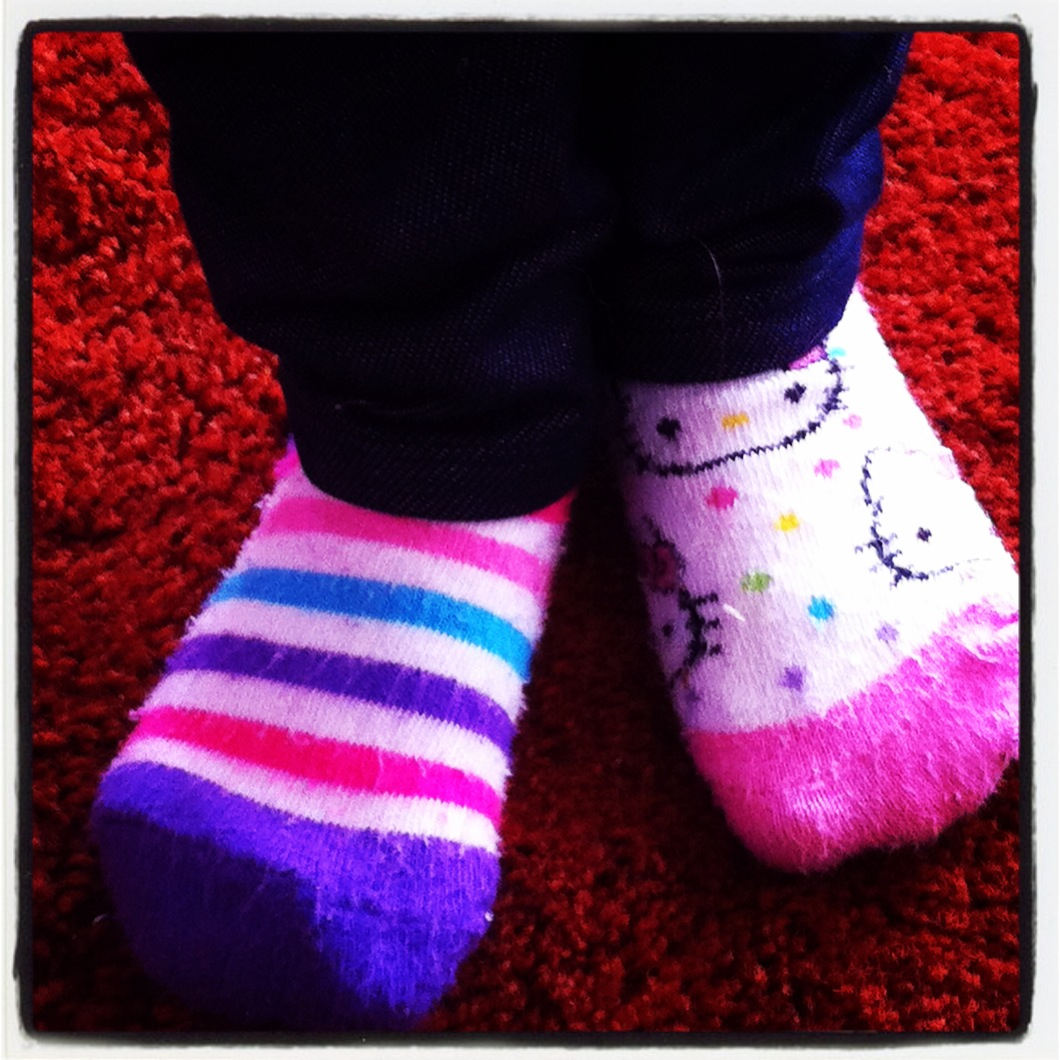 Silly Sock Day at School - Guess Whose Feet These Are?