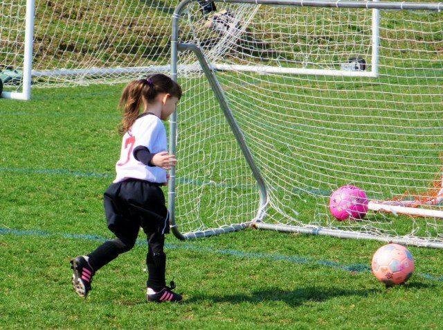 Emma Scoring A Goal