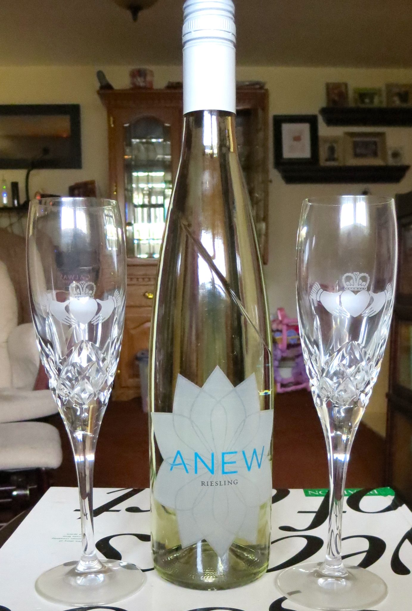 Anew Wine & Claddagh Glasses