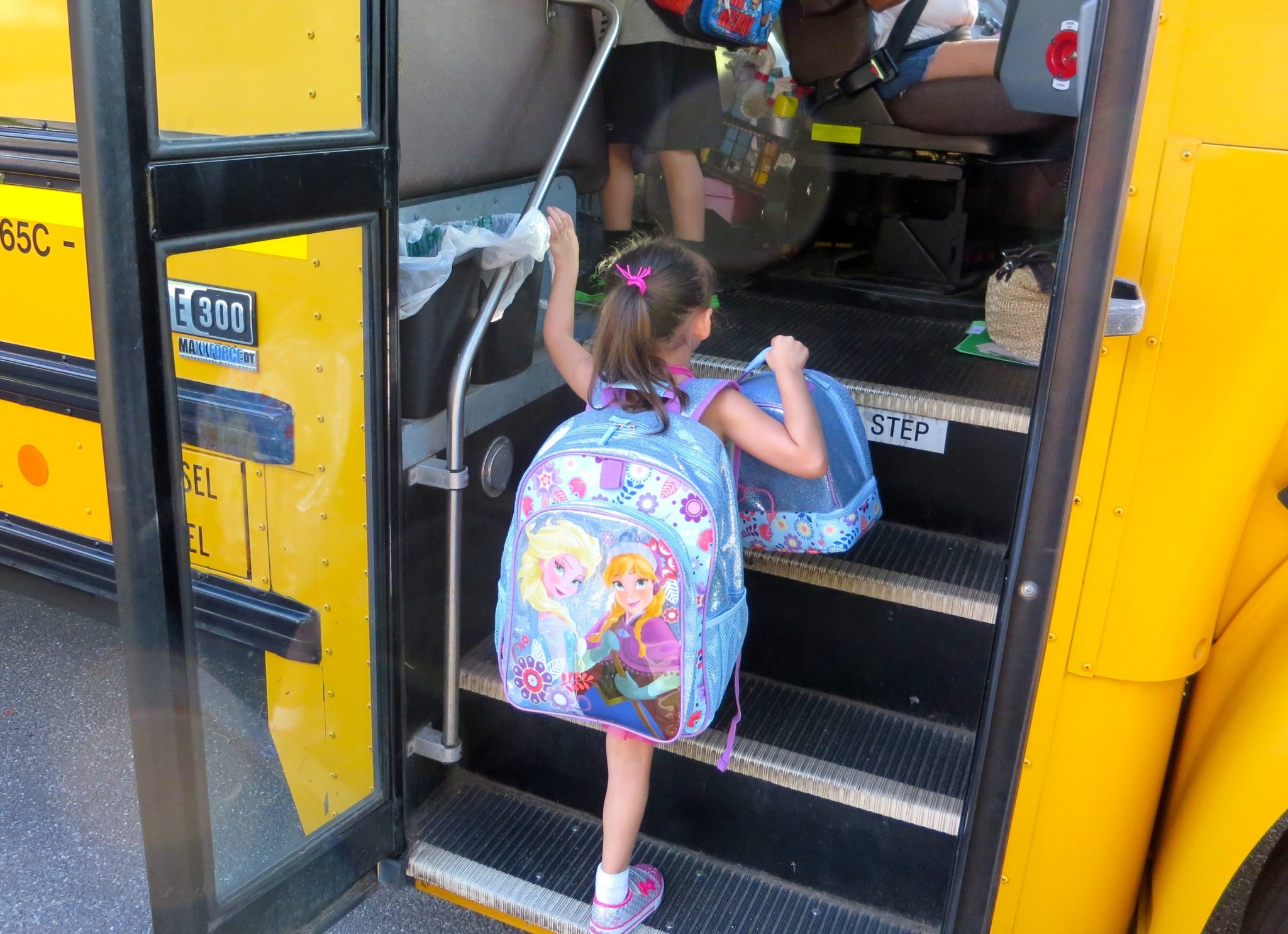 Emma Getting on the Bus