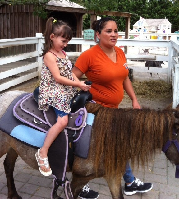 Emma's Pony Ride at a Recent Farm Trip