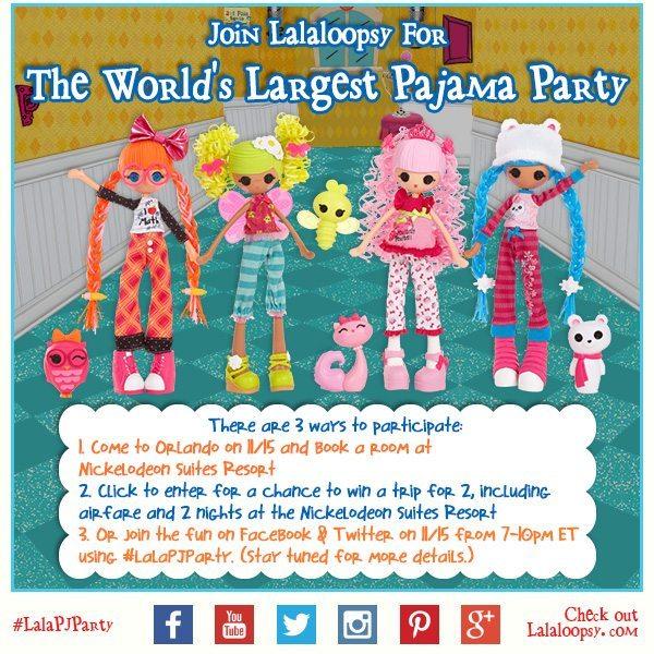 Lalaloopsy Pajama Party Invite