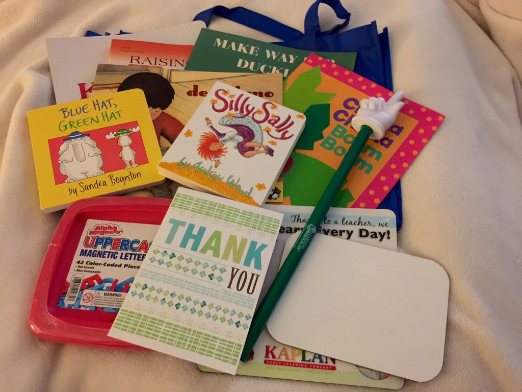 Thank you BrightStart! Reading Swag Bag