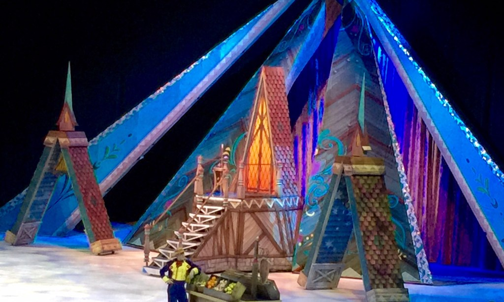 The Village Scenery in Frozen on Ice