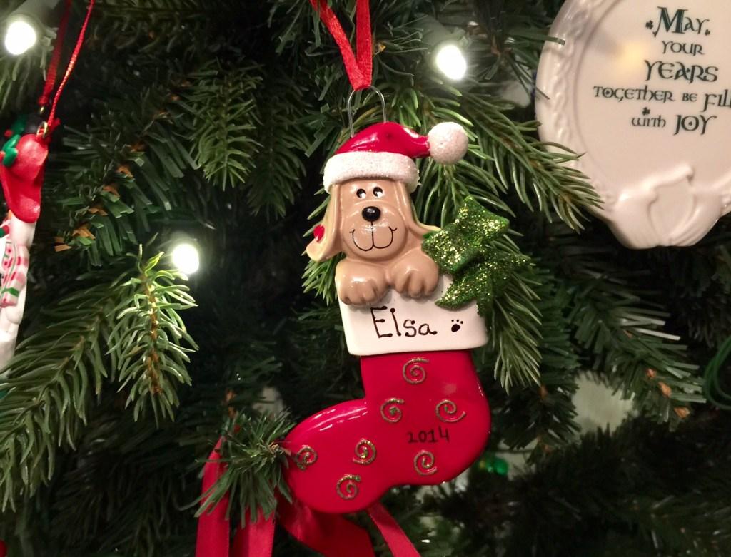 Elsa Puppy Ornament 2014