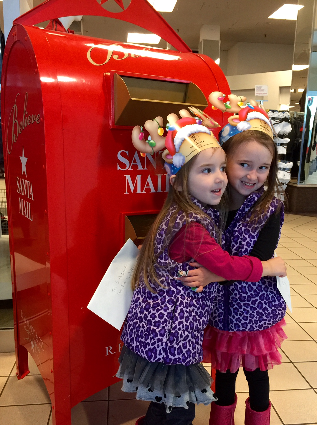 Mailing Their Letters to Santa