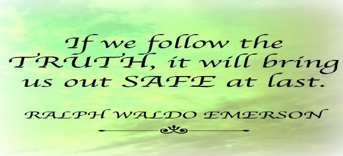 Featured Image Truth Quote - Ralph Waldo Emerson