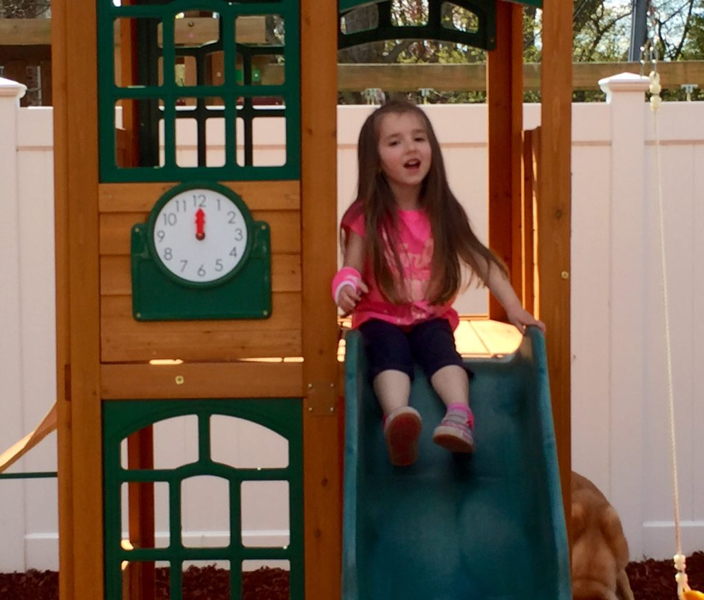 Lily in the Spring 2015 on the Slide