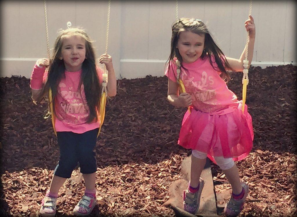 Sisters Swinging Spring 2015