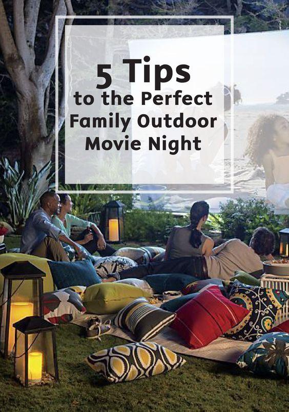 Summer Outdoor Movie Night Tips
