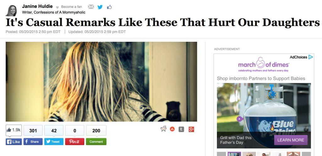 Screenshot of My Huffington Post Viral Article