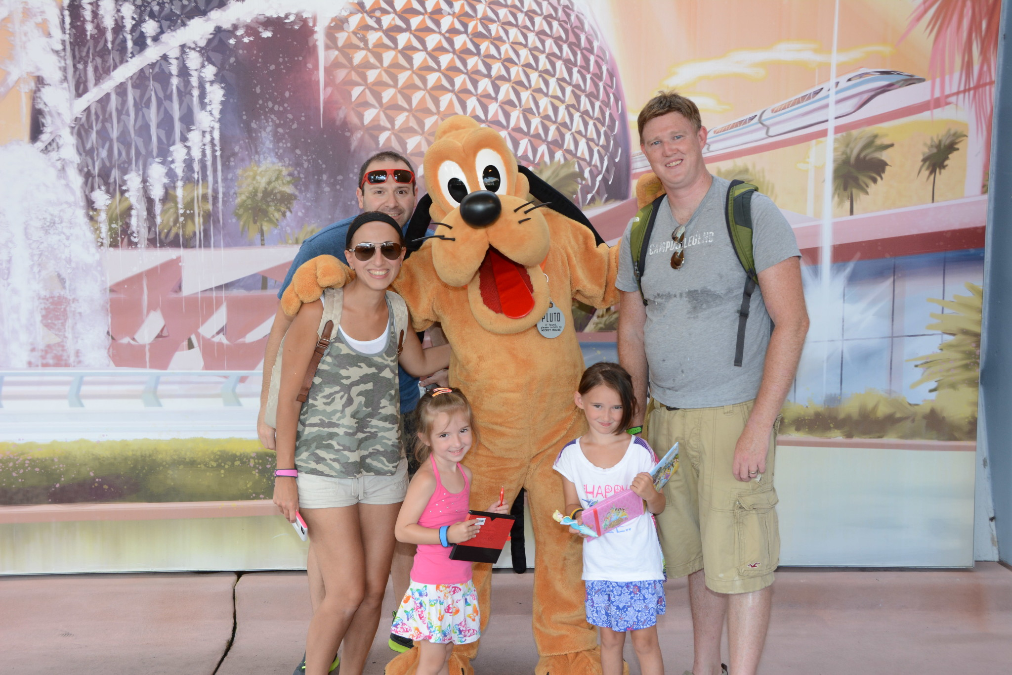 Our First Day at Epcot with Pluto