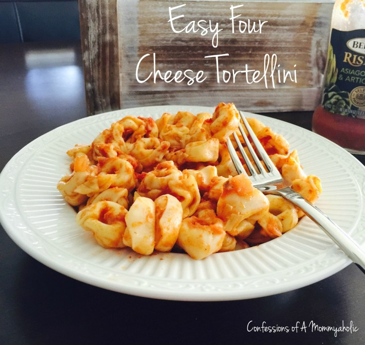 Quick Three Cheese Tortellini with Bertolli Asiago Cheese and Artichokes