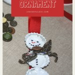 DIY Bottle Cap Snowman Ornament with Holiday Date Night Ideas