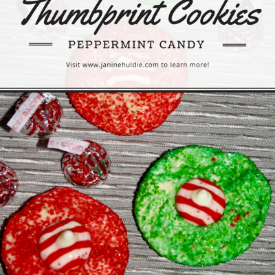 Hershey Kisses Peppermint Candy Thumbprint Cookies