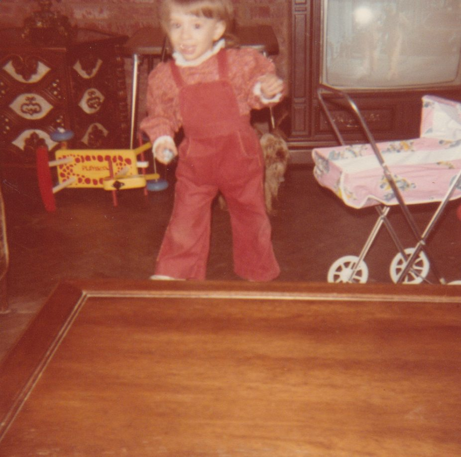 Me and my doll carriage from Christmas past
