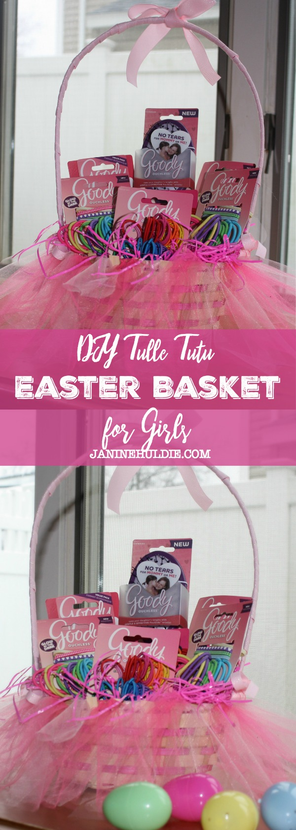 DIY Tulle Tutu Easter Basket for Girls