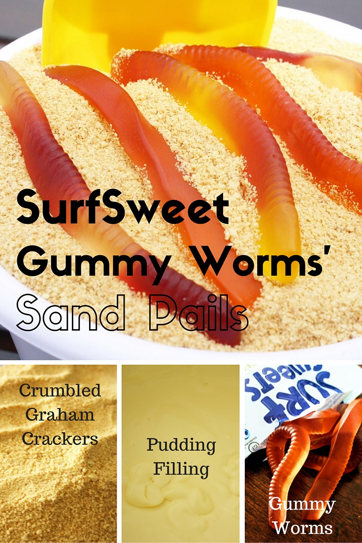 SurfSweet Gummy Worms Sand Pails