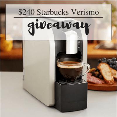 $240 Starbucks Verismo Giveaway