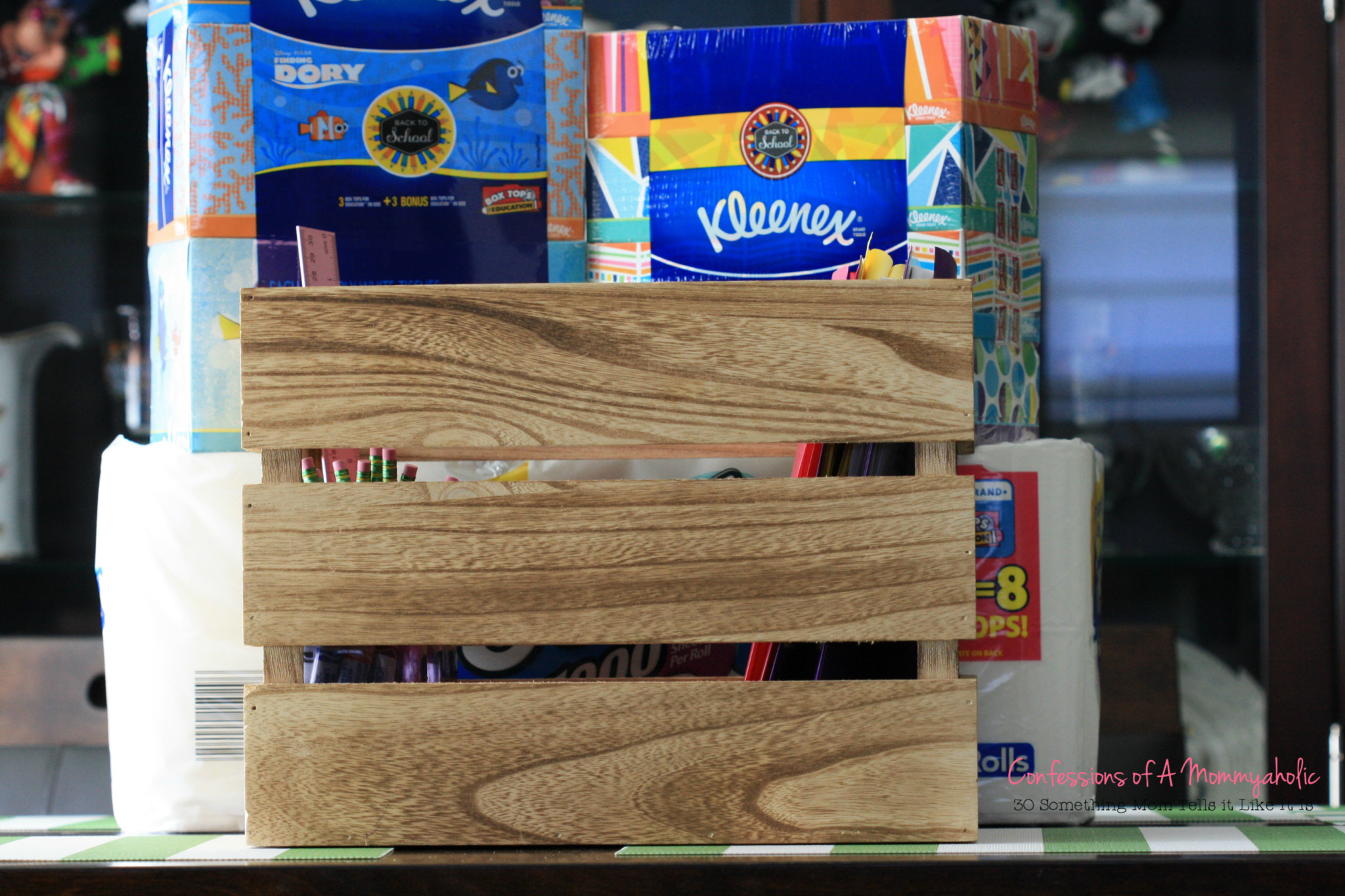 Wooden Pallet Homework Station and KC Products
