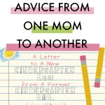 A Letter to A New Kindergarten Mom from A Former Kindergarten Mom