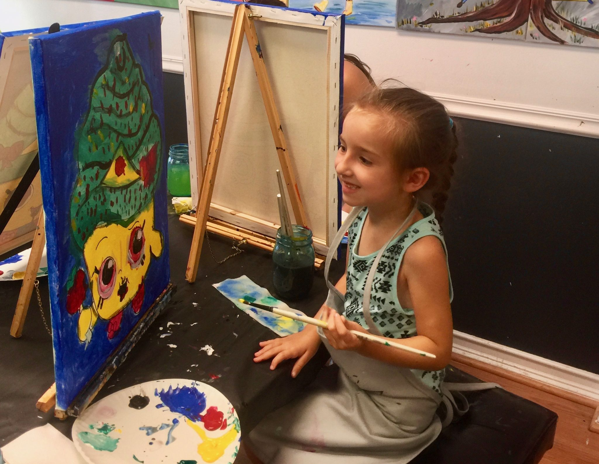 Lily painting this past summer