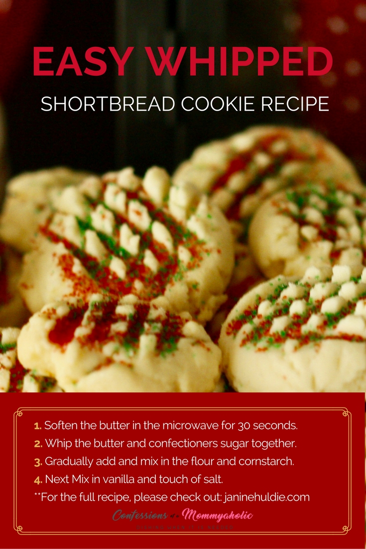 Easy Shortbread Cookies Recipe - Confessions of a Mommyaholic