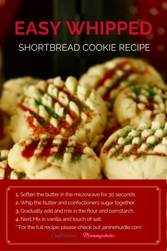 Easy Whipped Shortbread Cookie Recipe