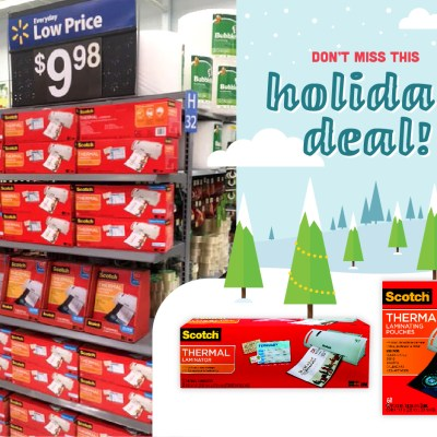 3M Scotch Laminators/Pouches Rollback at Walmart