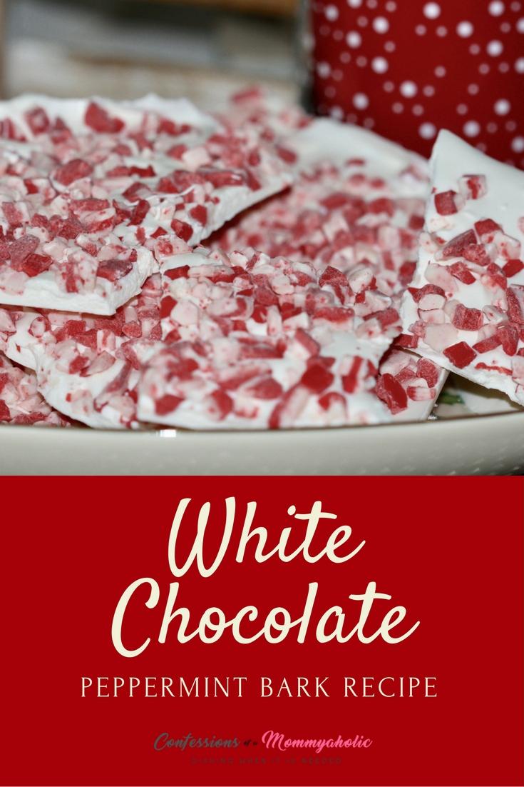 White Chocolate Peppermint Bark Recipe