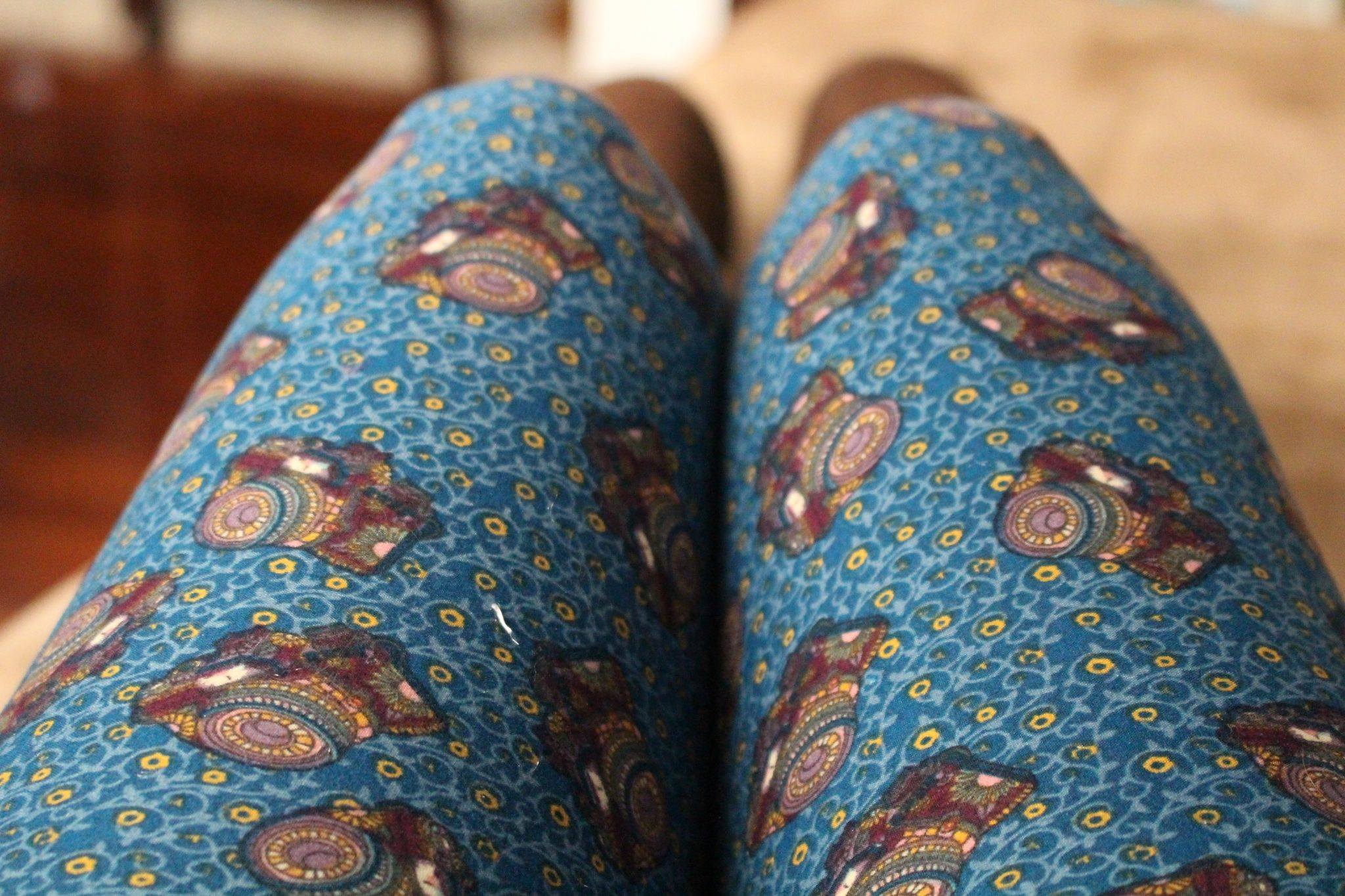 Blue Lularoe Camera Leggings