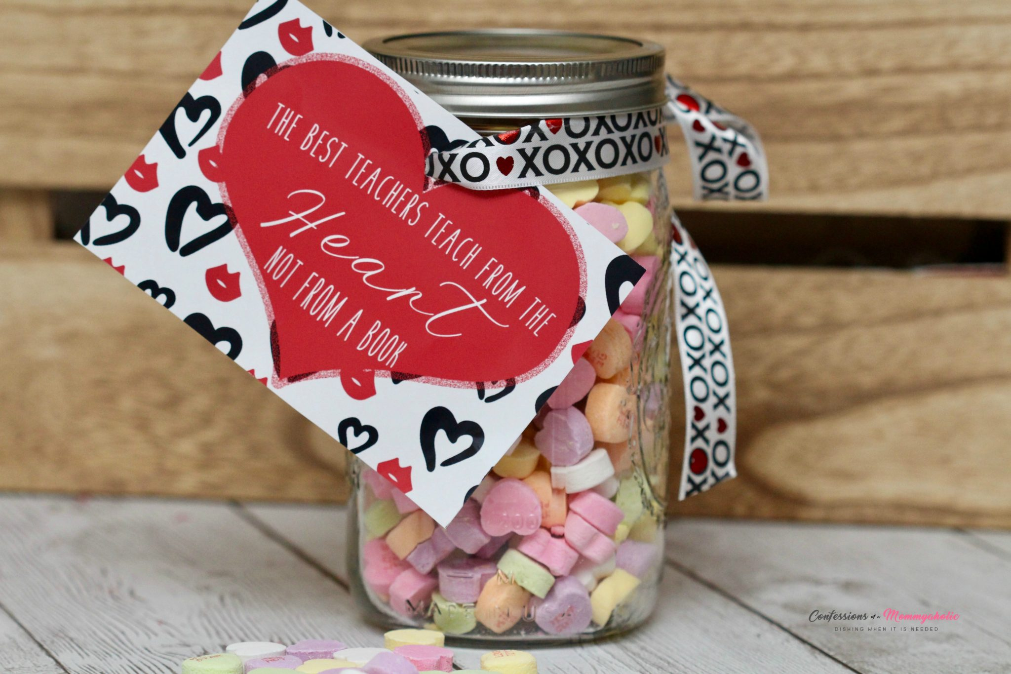 DIY Teacher Valentine Mason Jar Gift